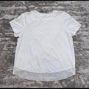 Lululemon open back white shirt, size 8